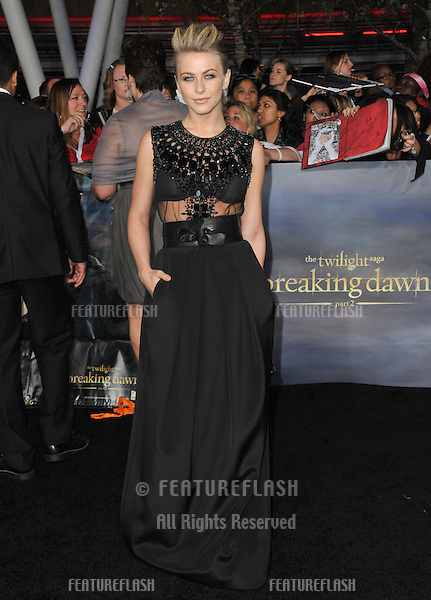 "Julianne Hough at the world premiere of ""The Twilight Saga: Breaking Dawn - Part 2"" at the Nokia Theatre LA Live..November 12, 2012  Los Angeles, CA.Picture: Paul Smith / Featureflash"