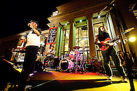 The Rhythm Rockers band in concert during Twilight Tuesdays series at Missouri History Museum in St. Louis, MO on Sept 8, 2009.