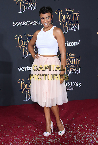 02 March 2017 - Hollywood, California - Carly Hughes. Disney's &quot;Beauty and the Beast' World Premiere held at El Capitan Theatre.   <br /> CAP/ADM/FS<br /> &copy;FS/ADM/Capital Pictures
