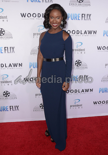"05 October  2015 - Los Angeles, California - Joy Brunson.  Arrivals the Los Angeles premiere of ""Woodlawn"" held at the Bruin Theater. Photo Credit: Birdie Thompson/AdMedia"