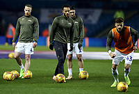 Leeds United during the pre-match warm-up <br /> <br /> Photographer Rich Linley/CameraSport<br /> <br /> The EFL Sky Bet Championship - Leeds United v Reading - Tuesday 27th November 2018 - Elland Road - Leeds<br /> <br /> World Copyright © 2018 CameraSport. All rights reserved. 43 Linden Ave. Countesthorpe. Leicester. England. LE8 5PG - Tel: +44 (0) 116 277 4147 - admin@camerasport.com - www.camerasport.com