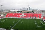 28 April 2007: A view of the East Stand and downtown Toronto behind him. Major League Soccer expansion team Toronto FC lost 1-0 to the Kansas City Wizards in the inaugural game at BMO Field in Toronto, Ontario, Canada, the first MLS game played outside of the United States.
