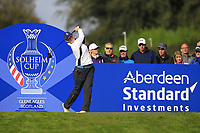 Caroline Masson of Team Europe on the 7th tee during Day 1 Foursomes at the Solheim Cup 2019, Gleneagles Golf CLub, Auchterarder, Perthshire, Scotland. 13/09/2019.<br /> Picture Thos Caffrey / Golffile.ie<br /> <br /> All photo usage must carry mandatory copyright credit (© Golffile | Thos Caffrey)