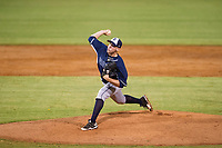 AZL Padres relief pitcher Spencer Kulman (40) delivers a pitch to the plate against the AZL Indians on August 30, 2017 at Goodyear Ball Park in Goodyear, Arizona. AZL Padres defeated the AZL Indians 7-6. (Zachary Lucy/Four Seam Images)