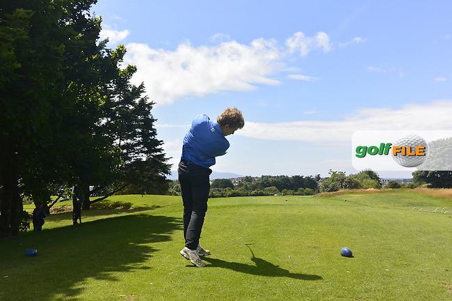 Hugh O'Hare (Fortwilliam) on the 16th tee during Round 3 of the 2016 Connacht U18 Boys Open, played at Galway Golf Club, Galway, Galway, Ireland. 07/07/2016. <br /> Picture: Thos Caffrey | Golffile<br /> <br /> All photos usage must carry mandatory copyright credit   (&copy; Golffile | Thos Caffrey)