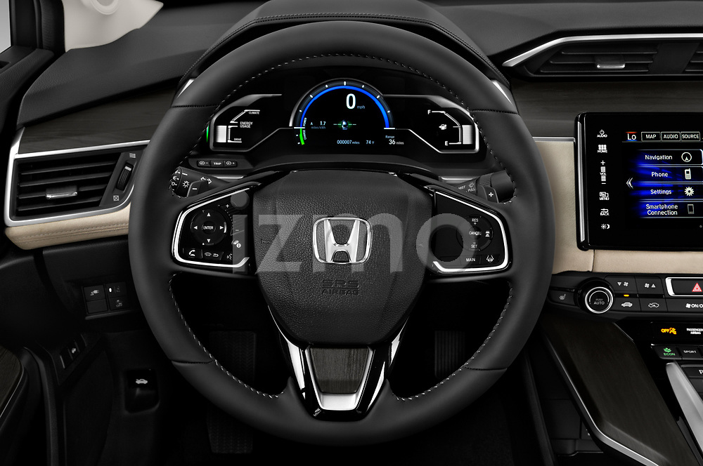 Car pictures of steering wheel view of a 2018 Honda Clarity Plug-In Hybrid 4 Door Sedan