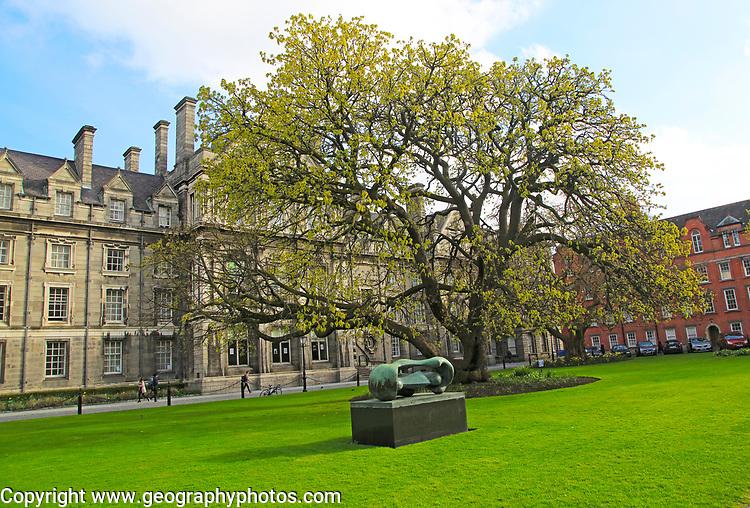Graduates Memorial building, Trinity College university, city of Dublin, Ireland, Irish Republic