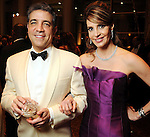 Honoree Carmen Maria Montiel-Lechin and her husband Dr. Alex Lechin at the Winter Ball benefiting the Houston Gulf Coast/South Texas Chapter of the Crohn's & Colitis Foudation of America at the InterContinental Hotel Saturday Jan. 23,2010.(Dave Rossman/For the Chronicle)