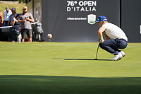Matt Wallace (ENG) in action on the 9th hole during the third round of the 76 Open D'Italia, Olgiata Golf Club, Rome, Rome, Italy. 12/10/19.<br /> Picture Stefano Di Maria / Golffile.ie<br /> <br /> All photo usage must carry mandatory copyright credit (© Golffile | Stefano Di Maria)