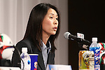 Akemi Noda (JPN), <br /> JULY 7, 2015 - Football / Soccer : <br /> JFA Women's Committee Chairman Akemi Noda<br />  attends a press conference after arriving in Chiba, Japan. <br /> Japan lost the FIFA Women's World Cup Canada 2015 Final match against United States on July 5.<br /> (Photo by Shingo Ito/AFLO SPORT)