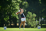 HOUSTON, TX - MAY 19: Ann Parmerter of Dallas Baptist University tees off during the Division II Women's Golf Championship held at Bay Oaks Country Club on May 19, 2018 in Houston, Texas. (Photo by Justin Tafoya/NCAA Photos via Getty Images)
