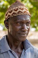 Cashew Nut Farmer, near Sokone, Senegal.  The farmer is of the Jola (French: Diola) ethnic group.