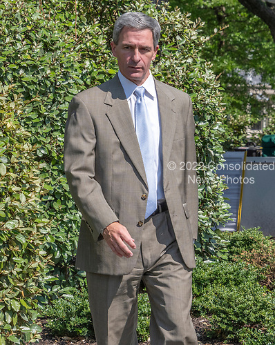 Acting Director of the United States Citizenship and Immigration Services Ken Cuccinelli walks tp meet reporters on the North Driveway of the White House in Washington, DC on Wednesday, July 10, 2019.<br /> Credit: Ron Sachs / CNP