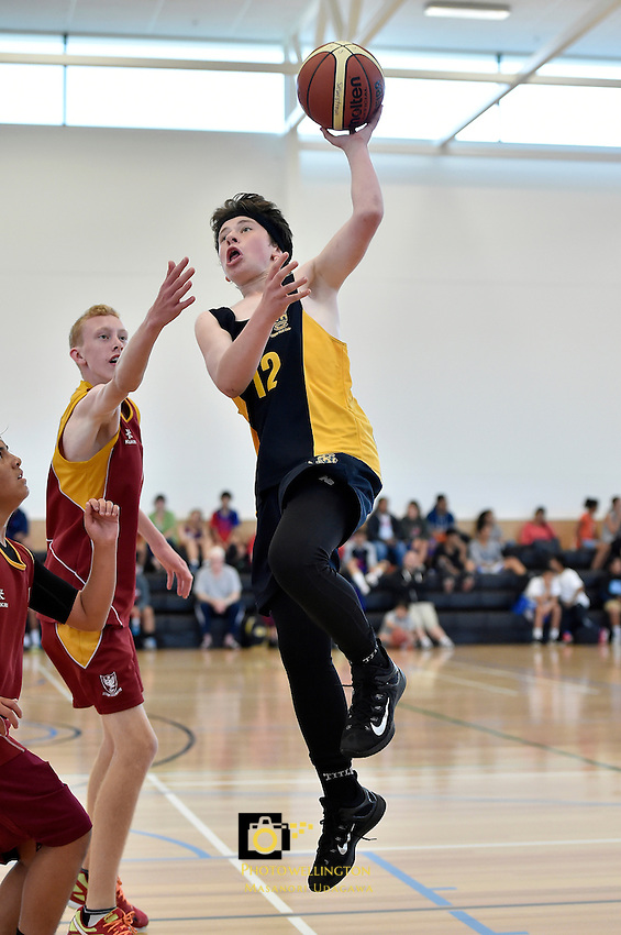Action from the Basketball - Silverstream Easter Invitational at St. Patrick's College Silverstream, Upper Hutt, New Zealand on Saturday 4 April 2015. <br /> Photo by Masanori Udagawa. <br /> www.photowellington.photoshelter.com.