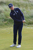 Jeff Wright (Forres) on the 4th green during Round 1 of the The Amateur Championship 2019 at The Island Golf Club, Co. Dublin on Monday 17th June 2019.<br /> Picture:  Thos Caffrey / Golffile<br /> <br /> All photo usage must carry mandatory copyright credit (© Golffile | Thos Caffrey)