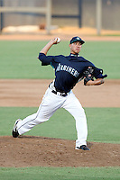 Charles Kaalekahi - 2010 AZL Mariners - pitching against the AZL Rangers at Peoria Stadium - 08/25/2010.Photo by:  Bill Mitchell/Four Seam Images..