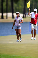 Valentina Giraldo (COL) on the 18th during the second round of the Augusta National Womans Amateur 2019, Champions Retreat, Augusta, Georgia, USA. 04/04/2019.<br /> Picture Fran Caffrey / Golffile.ie<br /> <br /> All photo usage must carry mandatory copyright credit (&copy; Golffile | Fran Caffrey)