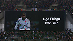 Tributes are paid to Ugo Ehiogu during the FA Cup Semi Final match at Wembley Stadium, London. Picture date: April 22nd, 2017. Pic credit should read: David Klein/Sportimage
