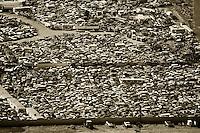 aerial photograph automobile junkyard southern Wyoming