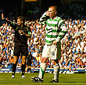 20/08/2005         Copyright Pic : James Stewart.File Name : jspa13 rangers v celtic.NEIL LENNON GESTURES TO THE RANGERS FANS AFTER THEY ASK HIM THE SCORE.......Payments to :.James Stewart Photo Agency 19 Carronlea Drive, Falkirk. FK2 8DN      Vat Reg No. 607 6932 25.Office     : +44 (0)1324 570906     .Mobile   : +44 (0)7721 416997.Fax         : +44 (0)1324 570906.E-mail  :  jim@jspa.co.uk.If you require further information then contact Jim Stewart on any of the numbers above.........