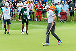 CROMWELL, CT. 20 June 2019-062019 - PGA Tour player Keegan Bradley acknowledges the fans after making a birdie on the fourth hole, during the first round of the Travelers Championship at TPC River Highlands in Cromwell on Thursday. Bill Shettle Republican-American
