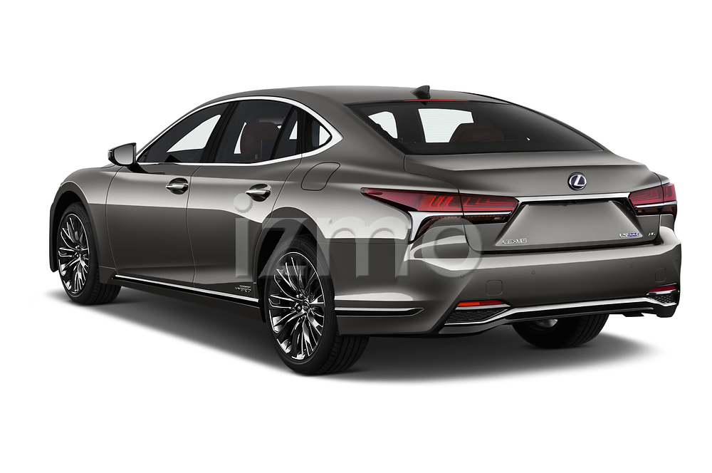 Car pictures of rear three quarter view of a 2018 Lexus LS President 4wd 4 Door Sedan angular rear