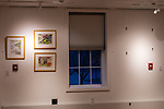 WOODBURY, CT. 28 December 2018-122818 - Artwork from area artists fills the walls in the new public area at the Woodbury Public Library in Woodbury on Friday. There is talk to get a commission from the artists if art is purchased while on display at the library. Bill Shettle Republican-American