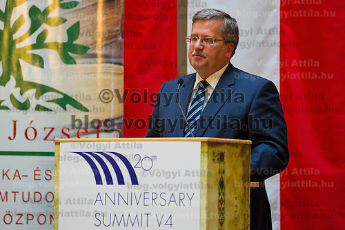 Bronislaw Komorowski President of Poland Conference on the Economy Potence of the Central Europe region held at the Corvinus University in Budapest, Hungary on October 07, 2011. ATTILA VOLGYI