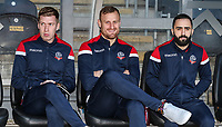 Bolton Wanderers' Josh Vela, David Wheater and Erhun Oztumer pictured before the match<br /> <br /> Photographer Andrew Kearns/CameraSport<br /> <br /> The EFL Sky Bet Championship - Hull City v Bolton Wanderers - Tuesday 1st January 2019 - KC Stadium - Hull<br /> <br /> World Copyright © 2019 CameraSport. All rights reserved. 43 Linden Ave. Countesthorpe. Leicester. England. LE8 5PG - Tel: +44 (0) 116 277 4147 - admin@camerasport.com - www.camerasport.com