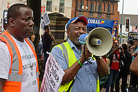 19th Aug 2012, Kingsley Burrell March, Birmingham Maxi Hayle; BRAMU on the megaphone.