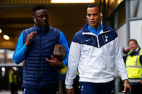 Victor Wanyama and Michel Vorm of Tottenham Hotspur arrives at Rodney Parade prior to kick off of the Fly Emirates FA Cup Fourth Round match between Newport County and Tottenham Hotspur at Rodney Parade, Newport, Wales, UK. Saturday 27 January 2018