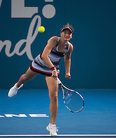 IRINA-CAMELIA BEGU (ROU)<br /> <br /> BRISBANE INTERNATIONAL, PAT RAFTER ARENA, BRISBANE TENNIS CENTRE, BRISBANE, QUEENSLAND, AUSTRALIA, ATP, WTA, Hard Court, Outside, Men's tennis, Women's tennis, Men's singles, women's singles, men's doubles, women's doubles.<br /> <br /> &copy; TENNIS PHOTO NETWORK