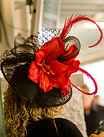 LOUISVILLE,KNY - MAY 04: Fancy hat worn for Thurby at Churchill Downs, Louisville, Kentucky, May 4, 2017. (Photo by Sue Kawczynski/Eclipse Sportswire/Getty Images)