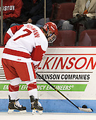 Cason Hohmann (BU - 7) - The Boston University Terriers defeated the visiting Northeastern University Huskies 5-0 on senior night Saturday, March 9, 2013, at Agganis Arena in Boston, Massachusetts.