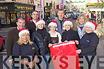 Killarney Traders getting in the Christmas Spirit on Friday, from left: Tim Cermmin, Anne O'Shea, Martin O'Brien, Shiva Sikorska, Ciara Daly, Aongus O'Donoghue, Rose Mangan, Jo Harrington and Catherine Brosnan.