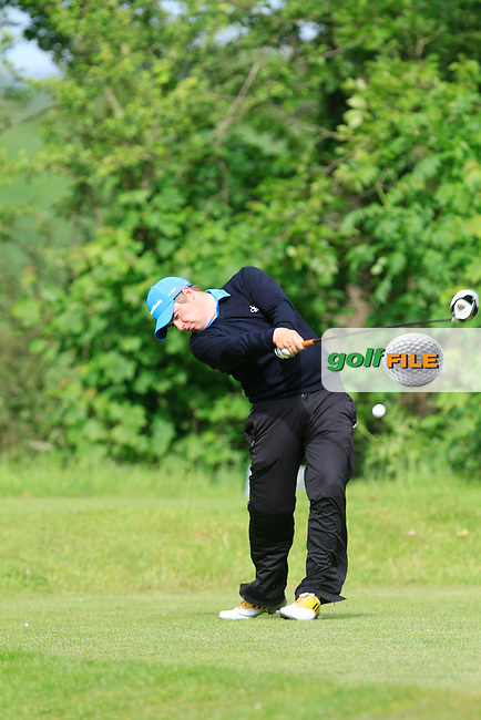Gary Collins (Rosslare) on the 6th tee during Round 5 of the Irish Amateur Close Championship at Seapoint Golf Club on Tuesday 10th June 2014.<br /> Picture:  Thos Caffrey / www.golffile.ie