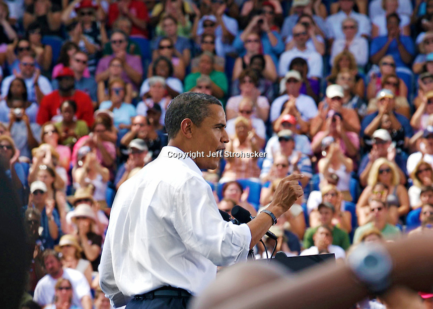 Soon to be President Barack Obama in Dunedin Florida during the 2008 Presidential campaign.