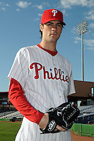 Feb 20, 2009; Clearwater, FL, USA; The Philadelphia Phillies pitcher Cole Hamels (35) during photoday at Bright House Field. Mandatory Credit: Tomasso De Rosa/ Four Seam Images