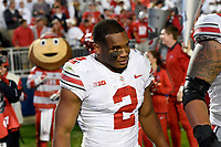 STATE COLLEGE, PA - SEPTEMBER 29: Ohio State RB J.K. Dobbins (2) leaves the field after the game with their mascot Brutus the Buckeye behind him. The Ohio State Buckeyes defeated the Penn State Nittany Lions 27-26 on September 29, 2018 at Beaver Stadium in State College, PA. (Photo by Randy Litzinger/Icon Sportswire)