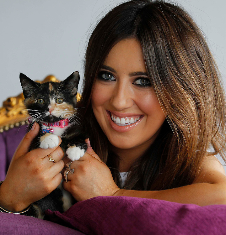 No Repro Fee..Cat lover and TV presenter Lottie Ryan pictured with 3 month old kitten Sybil at the launch of Whiskas' A Cat Would campaign. Inspired by the idea that cats really know how to live - be it from snoozing, grooming, slinking about or enjoying the finer things in life - Whiskas unveiled its new campaign with a pledge that focuses on encouraging the Irish public to get their priorities right and inject some cattitude into their lives! Pic. Robbie Reynolds/CPR..Cat lovers across the country can are being encouraged to join the Whiskas Ireland Facebook www.facebook.com/whiskasireland ..Log on today to be in with a chance to win great prizes such as yoga mats, deck chairs and feeding bowls to name just a few items. Fans can also receive daily updates on how you can take a leaf out of your favourite pet's book and live your life more like a cat. Like us today... a cat would!.