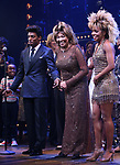 """Daniel J. Watts, Tina Turner and Adrienne Warren during the """"Tina - The Tina Turner Musical"""" Opening Night Curtain Call at the Lunt-Fontanne Theatre on November 07, 2019 in New York City."""