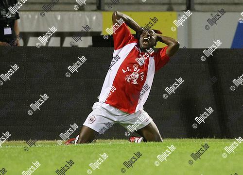 2009-08-29 / Voetbal / seizoen 2009-2010 / Antwerp FC - FC Brussels / Kenmonge schreeuwt het uit na een gemiste kans..Foto: Maarten Straetemans (SMB)