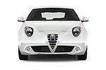 Car photography straight front view of a 2015 Alfaromeo Mito 600H-L-President-Line 4 Door Sedan Front View