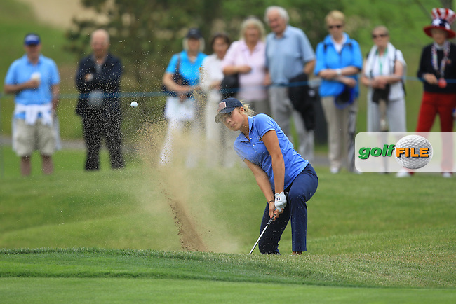 Sierra Brooks on the 5th during the Friday afternoon Fourballs of the 2016 Curtis Cup at Dun Laoghaire Golf Club on Friday 10th June 2016.<br /> Picture:  Golffile   Thos Caffrey