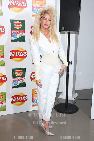 Sarah Harding arriving at Walkers' Bring It Back campaign launch party held at Vinopolis, London. <br /> September 3, 2015  London, UK<br /> Picture: James Smith / Featureflash