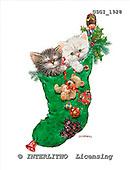 GIORDANO, CHRISTMAS ANIMALS, WEIHNACHTEN TIERE, NAVIDAD ANIMALES, paintings+++++,USGI1928,#XA# christmas stocking