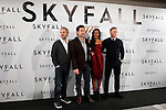 Director Sam Mendez, actor Javier Bardem, actress Naomie Harris and actor Daniel Craig attend 'Skyfall' photocall on October 29, 2012 in Madrid, Spain. .(ALTERPHOTOS/Harry S. Stamper)