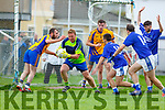 Mike Moriarty Beaufort keeper breaks clear during the Mid Kerry clash in Killorglin on Sunday