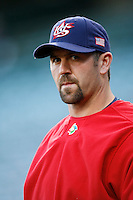 Jason Varitek of the USA during the World Baseball Championships at Angel Stadium in Anaheim,California on March 13, 2006. Photo by Larry Goren/Four Seam Images