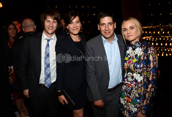 WEST HOLLYWOOD, CA - JULY 7: Derek Richardson, Franka Potente, Eric Schrier, and Diane Kruger attend the Season 2 Premiere party for The Bridge, presented by FX, Shine America, and FXP at the 1 Oak on July 6, 2014 in West Hollywood, California. . Credit: PGWise/MediaPunch